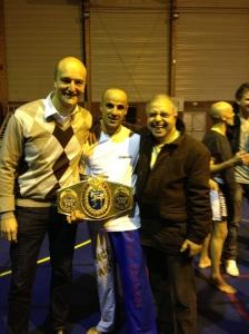 Janvier 2013, gala de boxe en compagnie d'un champion du monde et d'Ali Achouri